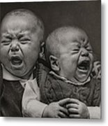 Cry Babies Metal Print by Pat Abbott