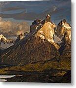 Cuernos Del Paine And Lago Pehoe Metal Print