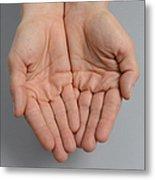 Cupped Hands Metal Print