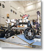 Curiosity Rover In The Testing Facility Metal Print