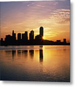 Dallas Skyline At Dawn Metal Print by Jeremy Woodhouse