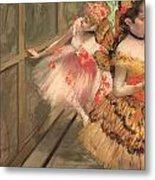 Dancers In The Wings Metal Print by Edgar Degas