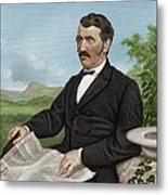 David Livingstone, Scottish Explorer Metal Print
