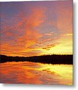 Dawn Jackson Hole Lake Metal Print