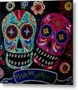 Day Of The Dead Couple Metal Print