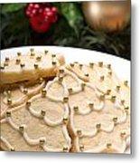 Decorated Cookies In Festive Setting Metal Print