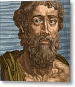 Demosthenes, Ancient Greek Orator Metal Print by Photo Researchers