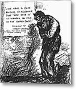 Depression Cartoon, 1932 Metal Print