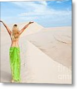 Desert Woman Metal Print