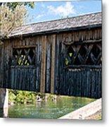 deShutes River Bridge Metal Print