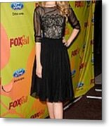 Dianna Agron At Arrivals For Fox Fall Metal Print by Everett