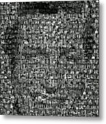 Dick Van Dyke Mosaic Metal Print