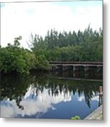 Dock On The North Fork River Metal Print
