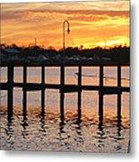 Dock Sunset Metal Print