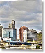 Downtown Toledo Riverfront Metal Print