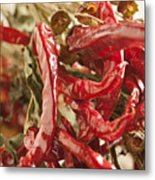 Dried Chili Peppers Metal Print