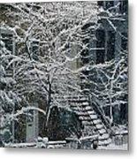 Drolet Street In Winter, Montreal Metal Print