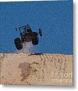 Dune Buggy Jump Metal Print