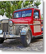 Dusty Pick-up Hot Rod Metal Print