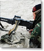 Dutch Royal Marines Taking Part Metal Print