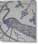 Early Christian Mosaic In The Ruins Metal Print by Taylor S. Kennedy