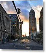Early Morning Court Street Metal Print