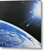Earth From Space Metal Print