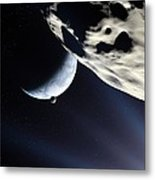 Earth-like Alien Planet Metal Print