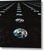 Earth Pattern Metal Print