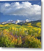 East Beckwith Mountain Flanked By Fall Metal Print