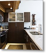 Efficiency Apartment Kitchen Metal Print by Ben Sandall
