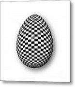 Egg Checkered Metal Print