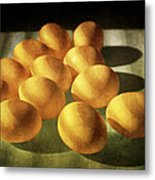 Eggs Lit Through Venetian Blinds Metal Print