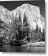 El Capitan And Merced River Metal Print