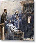 Electrocution, 1890 Metal Print