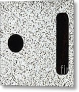 Electrostatic Field Lines No Charge Metal Print