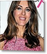 Elizabeth Hurley At A Public Appearance Metal Print by Everett