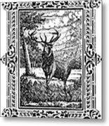 Elk From Glass Metal Print