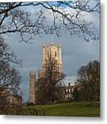 Ely Cathedral In City Of Ely Metal Print