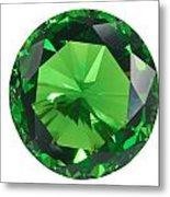 Emerald Isolated Metal Print