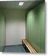 Empty Locker Room Metal Print