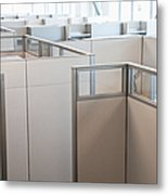 Empty Office Cubicles Metal Print