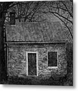 Enchanted Moonlight Cottage Metal Print