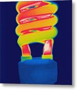 Energy Efficient Fluorescent Light Metal Print