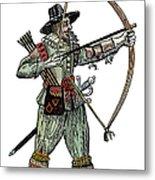 English Archer, 1634 Metal Print
