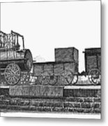 English Locomotive, 1825 Metal Print