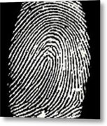 Enlarged Fingerprint Metal Print