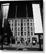 Entrance To The Albert Dock And Beatles Museum Liverpool Merseyside England Uk Metal Print
