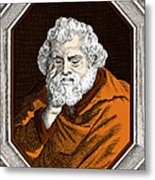 Euclid, Ancient Greek Mathematician Metal Print
