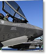 F-35b Lightning II Variants Are Secured Metal Print